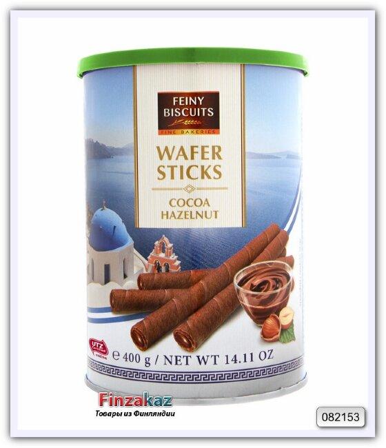 Вафельные трубочки с какао-ореховой начинкой Feiny Bisuits 400 гр