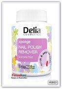 Жидкость для снятия лака губкой Delia Sponge Nail Polish Remover Acetone Free