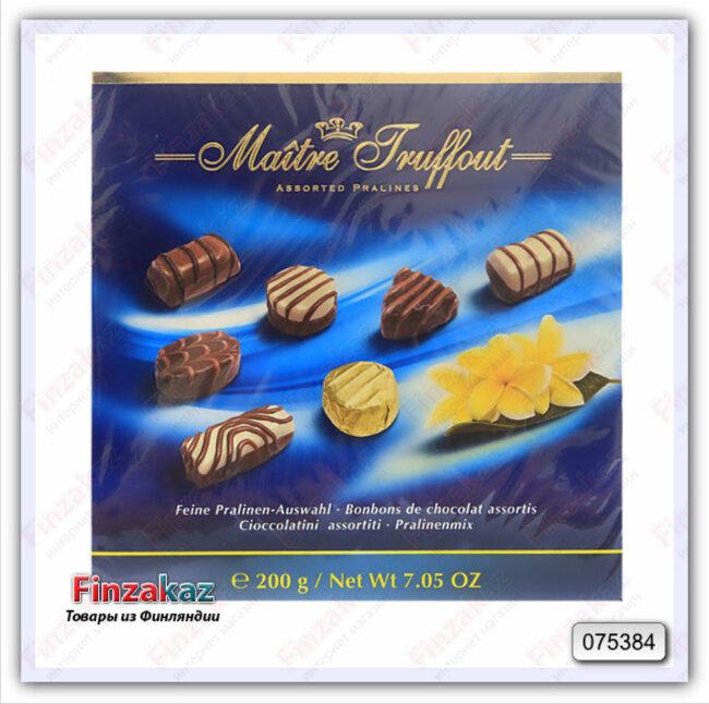 """Шоколадные конфеты """"Ассорти"""" Maitre Truffout 200 гр"""