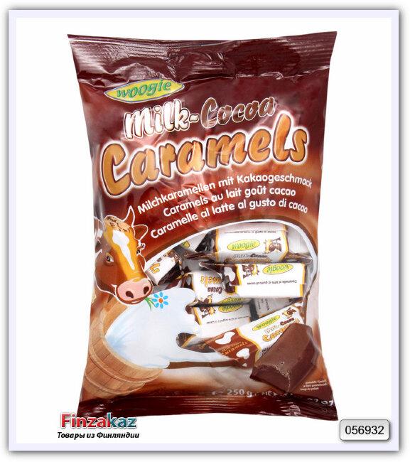 "Конфеты ирис молочный со вкусом какао ""Коровка"" Woogie ( карамель ) 250 гр"