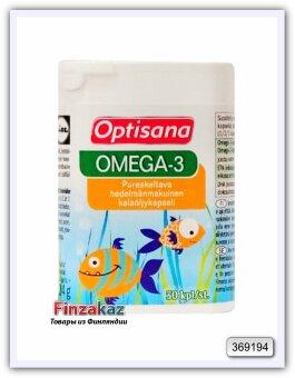 Фруктовые жевательные капсулы Optisana Omega-3 30 шт