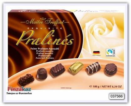 Шоколадные конфеты Ассорти пралине, Maitre Truffout 180 гр