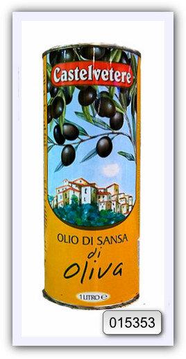 Масло оливковое из выжимок рафинированное с добавлением масла оливкового нерафинированного CASTELVETERЕ 1 л (ж/б)