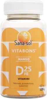 "Жевательные таблетки ""витамина Д"" Sana-sol Vitabons D-Vitamiini 25 мкг 60 шт"