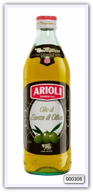 Масло оливковое из выжимок рафинированное с добавлением масла оливкового нерафинированного Trasimeno Arioli 1 л