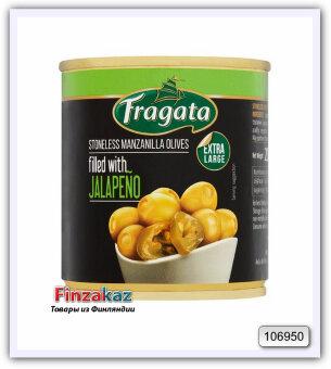 Оливки Fragata Jalap Tayt Oliivi ( с перцем) 200 гр