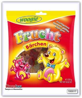 """Жевательные конфеты с фруктовым вкусом """"Медвежата"""" Woogie Fruit gums bears 250 гр"""