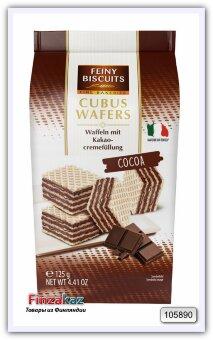 Вафли с начинкой из какао-крема Feiny Biscuits Cubus Wafers Cocoa 125 гр