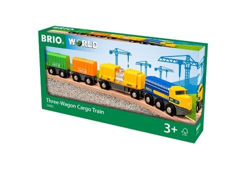 Длинный товарный поезд BRIO