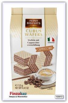 Вафли с начинкой из крема капучино Feiny BiscuitsCubus Wafers Cappuccino 125 гр