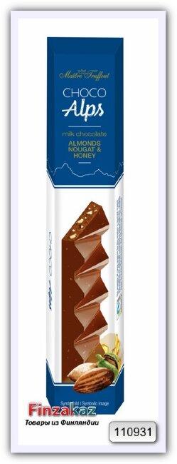 Молочный шоколад с кусочками миндальной нуги с медом Maître Truffout Choco Alps 90 гр