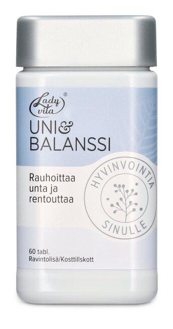"""Витаминная таблетка из мелиссы, ромашки и шафрана, для хорошего сна """"Ladyvita Uni & Balanssi"""" 60 таб"""