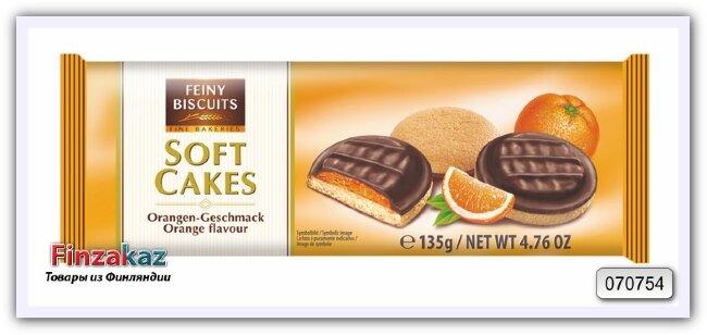 Печенье Softcakes orange (апельсин) 135гр